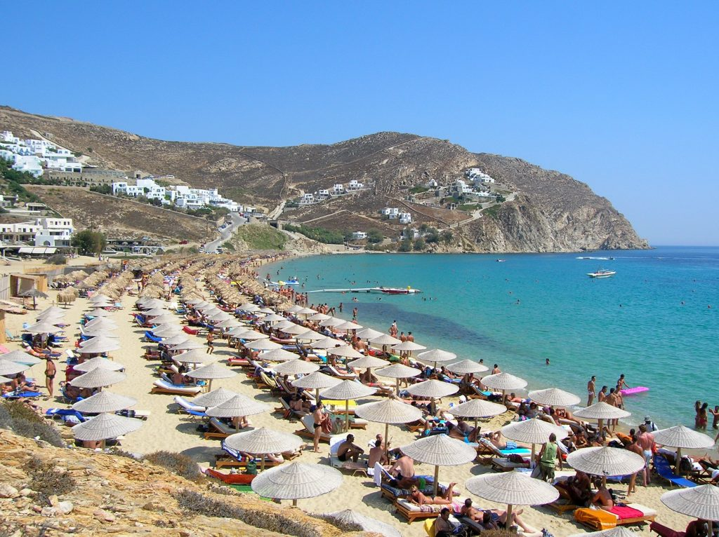 Elias Beach gay beach Mykonos